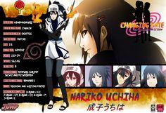 Nariko Uchiha (うちは成子 Uchiha Nariko) is one of the main supporting characters in the SasuNaru / NaruSasu fanfic series Changing Fate. She is a chūnin-level ku...