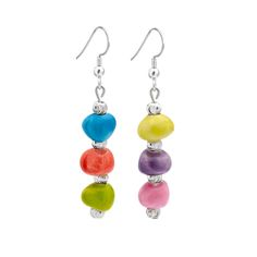 Ceramic and sterling silver earrings entirely hand manufactured on Italy's Amalfi Coast - Made in Italy