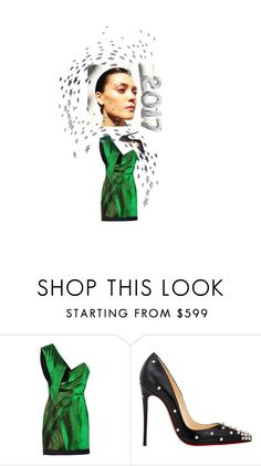 """""""2017"""" by salt-and-pepper ❤ liked on Polyvore featuring Anthony Vaccarello, Christian Louboutin, Gareth Pugh and partystyle"""