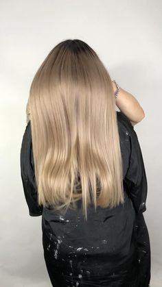 Ash Blonde Hair, Blonde Color, Blonde Highlights, Ombre Hair, Hair Color, Modern Hairstyles, Straight Hairstyles, Cool Hairstyles, Honey Blond