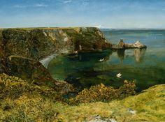 Anstey's Cove Devon, 1854, John William Inchbold. (1830 - 1888)
