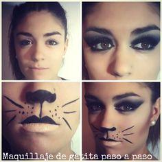 Maquillaje de Gatita para CARNAVAL! Para más ideas, visita nuestra web www.smugin.com