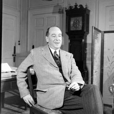C.S. Lewis, photographed by Hans Wild, November 1946.