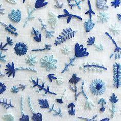 """""""Floral embroidery @happycactusdesigns #craftsposure"""""""