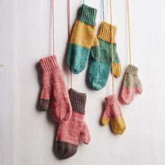 разноцветные варежки из остатков, фото и описание с сайта Марты Стюарт