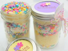 Easter Cake In a Jar - It appears they are not on Etsy anymore. This would be easy to duplicate.