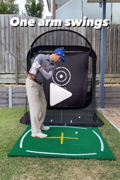 Hitting It Solid shares with you a great drill doing one arm swings to improve your consistency and lower your scores.