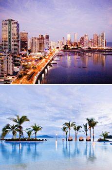 Top: Panama City  Bottom: The Westin Playa Bonita