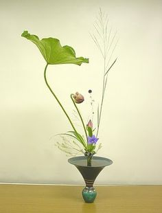 Ikebana (the Japanese art of flower arranging)