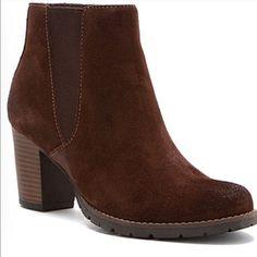 Clark Camelia  ankle booties Dark brown suede booties by Clarks Clarks Shoes Ankle Boots & Booties
