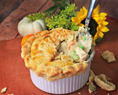 His and Hers Chicken Pot Pie bite