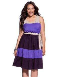 eloquii Colorblock Tank Dress Women's Plus Size