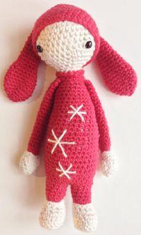 Mini Lalylala inspired rabbit Free pattern (danish language)