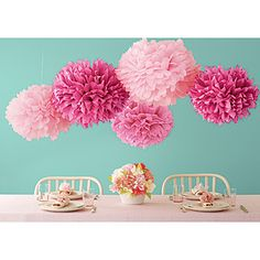 diy tissue poms...like we did in grade school art class