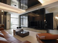 TV backdrop of choice must be combined with TV cabinet Lounge, Tv Cabinets, Studio, Modern, Backdrops, Conference Room, Living Room, Table, Design