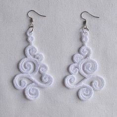 FSL Delicate Earrings Set, 10 Designs - 4x4 | What's New | Machine Embroidery Designs | SWAKembroidery.com