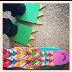 King. dinosaur feet - how FUN! To go with the dinosaur tails!!!