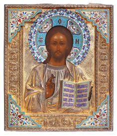 Christus Pantokrator Christus Pantokrator, Buddha, Auction, Statue, Painting, Art, Enamel, Silver, Kunst