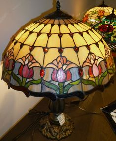 Larger Leadlight lamp - older style look $170