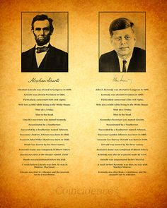 Abraham Lincoln and John F Kennedy Presidential Similarities and Coincidences