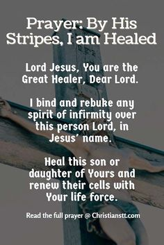 Prayer: By His Stripes I am Healed pin
