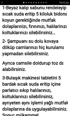 PRATİK  BİLGİLER Lets Try, Natural Cleaning Products, House Layouts, Karma, Did You Know, Helpful Hints, Household, Let It Be, Creative
