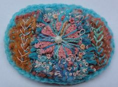 Textile Brooch by Thecraftmagpie on Etsy, $22.00