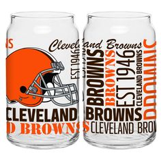 BOELTER BRANDS Cleveland Browns 16-Ounce Glass Spirit Glass Set