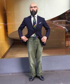 Stylish Mens Fashion, Men's Fashion, Classic Suit, Awesome Beards, Wide Pants, Japanese Men, Lifestyle Clothing, Men Looks, Mens Suits