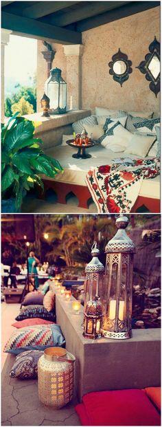 Estilo árabe boho. Visto en www.momocca.com