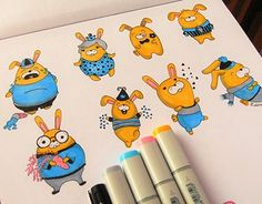 "Check out new work on my @Behance portfolio: ""Cute doodles"" http://be.net/gallery/44957607/Cute-doodles"