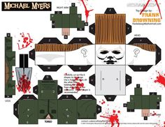 Michael Myers - cubeecraft Frank Browning paper toy