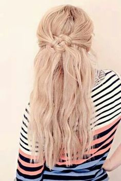 Celtic knot half up half down hairstyle <333