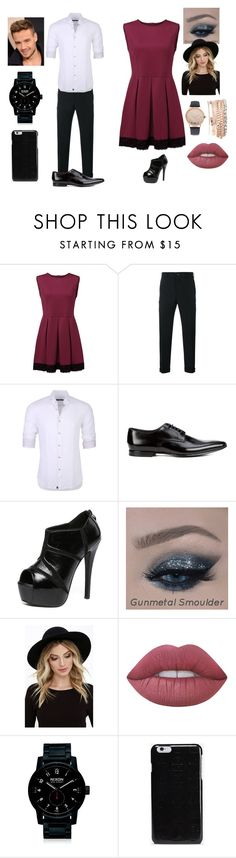 """""""Me and Liam on a Date"""" by megalee ❤ liked on Polyvore featuring Comme des Garçons Homme, Stone Rose, Paul Smith, WithChic, RHYTHM, Payne, Lime Crime, Nixon, Maison Margiela and Jessica Carlyle"""