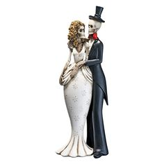 Design Toscano 10 in. Day of the Dead Skeleton Bride & Groom Statue - QS23564