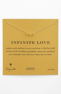 Dogeared 'Reminder - Infinite Love' Boxed Pendant Necklace | Nordstrom