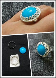 Gümüş telkari yüzük.  - by oya  #handmade #oyaca #oyalanmaca