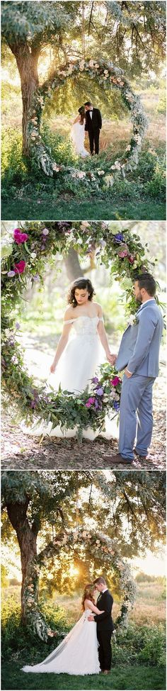 Wedding Decorations » Top 22 Creative DIY Wedding Wreath Ideas Worth Stealing » ❤️ More: http://www.weddinginclude.com/2017/05/creative-diy-wedding-wreath-ideas-worth-stealing/ #weddingideas #weddingdecoration