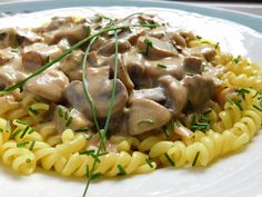 Czech Recipes, Ethnic Recipes, Gnocchi, Stuffed Mushrooms, Food And Drink, Vegan, Chicken, Dinner, Cooking