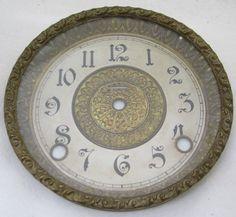 ANTIQUE INGRAHAM MANTEL CLOCK DIAL BEZEL PARTS REPAIR
