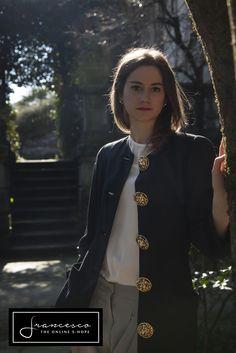 Giacca vintage, pantaloni seta lavata Prada Vintage jacket, Prada silk pants