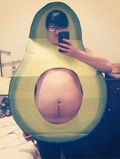 This avocado costume!!!     18 Unique DIY Food Halloween Costumes No One Else Will Be | Gurl.com
