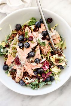 Superfood Salad with Lightened-Up Poppy Seed Dressing | foodiecrush.com