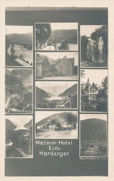 Mælands Hotel  - advertising card - see scan  - 10 pictures  -  EB-394