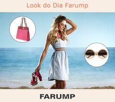 Veja o look do dia da Farump! O vestido jeans é um dos hits para o verão 2013.