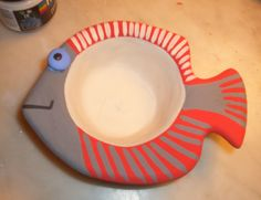one of my ceramic fishes (work in progress) before being fired and glazed