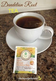 I love this Roasted Dandelion Root Tea! I drink it everyday, and I make sure to buy organic. I love the *Roasted* tea as opposed to the regular Dandelion tea. It just tastes better. Dandelion Tea Benefits, Dandelion Tea Detox, Dandelion Root Tea, Tea For Bloating, Tea For Colds, Everyday Detox Tea, Mothers Milk Tea, Tea Before Bed
