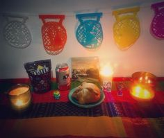 Our first Dia de los Muertos alter  #diadelosmuertos#altar#mexico#culture#travel#livingabroad#lifeabroad