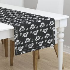Nature's way floral spread on Minorca by diseniaz Cloth Napkins, Vanity Bench, Tea Towels, Custom Fabric, Table Runners, Spoonflower, Kitchen Dining, Stool, Elegant