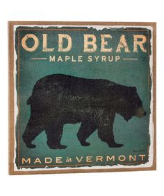 Look what I found on #zulily! 'Old Bear' Burlap Wall Art #zulilyfinds